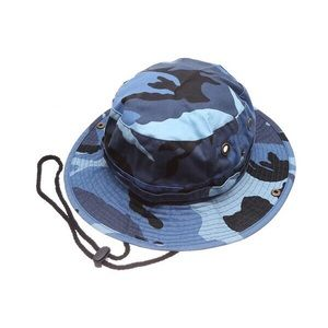 Safari Bucket Hat (Blue Camo)
